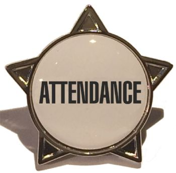 ATTENDANCE titled star badge